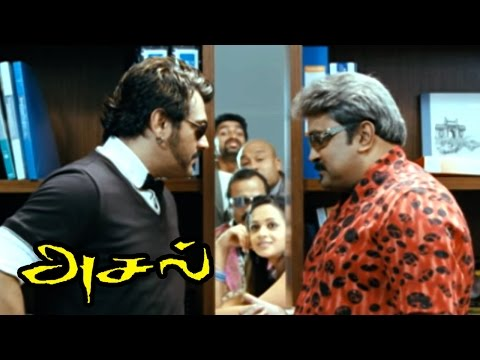 Asal  Asal Tamil Full Movie Scenes  Ajith goes to Mumbai to rescue Rajiv  Ajith Movies  Aasal