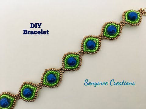 Peacock Eyes Bracelet. How to make beaded Bracelets.DIY projects