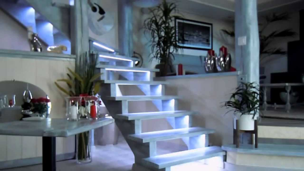 eclairage escalier progressif leds smbconcept youtube. Black Bedroom Furniture Sets. Home Design Ideas