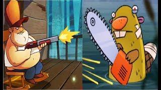 АТАКА НА БОЛОТЕ #2  Мультик Игра для детей о охотнике истребляющим МОНСТРОВ Swamp Attack