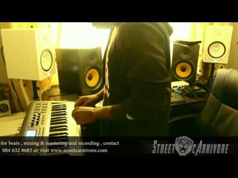 South African Music Producer Vlog Episode 1  Street Carnivore Beat making X studio session