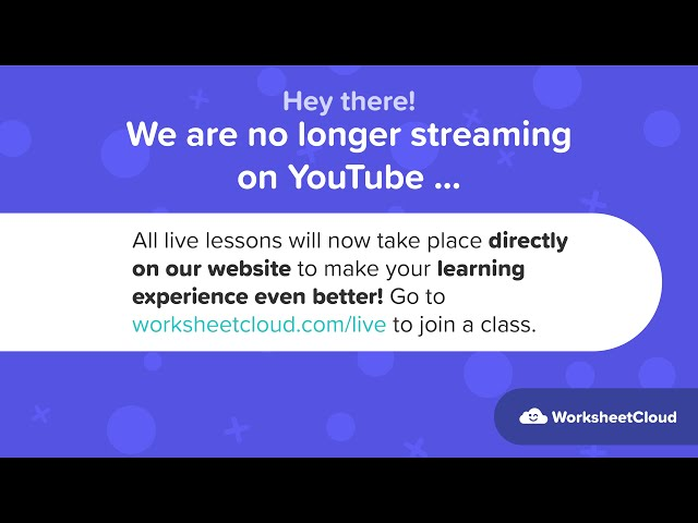 Worksheetcloud Grade 4 Classroom Live Stream Youtube