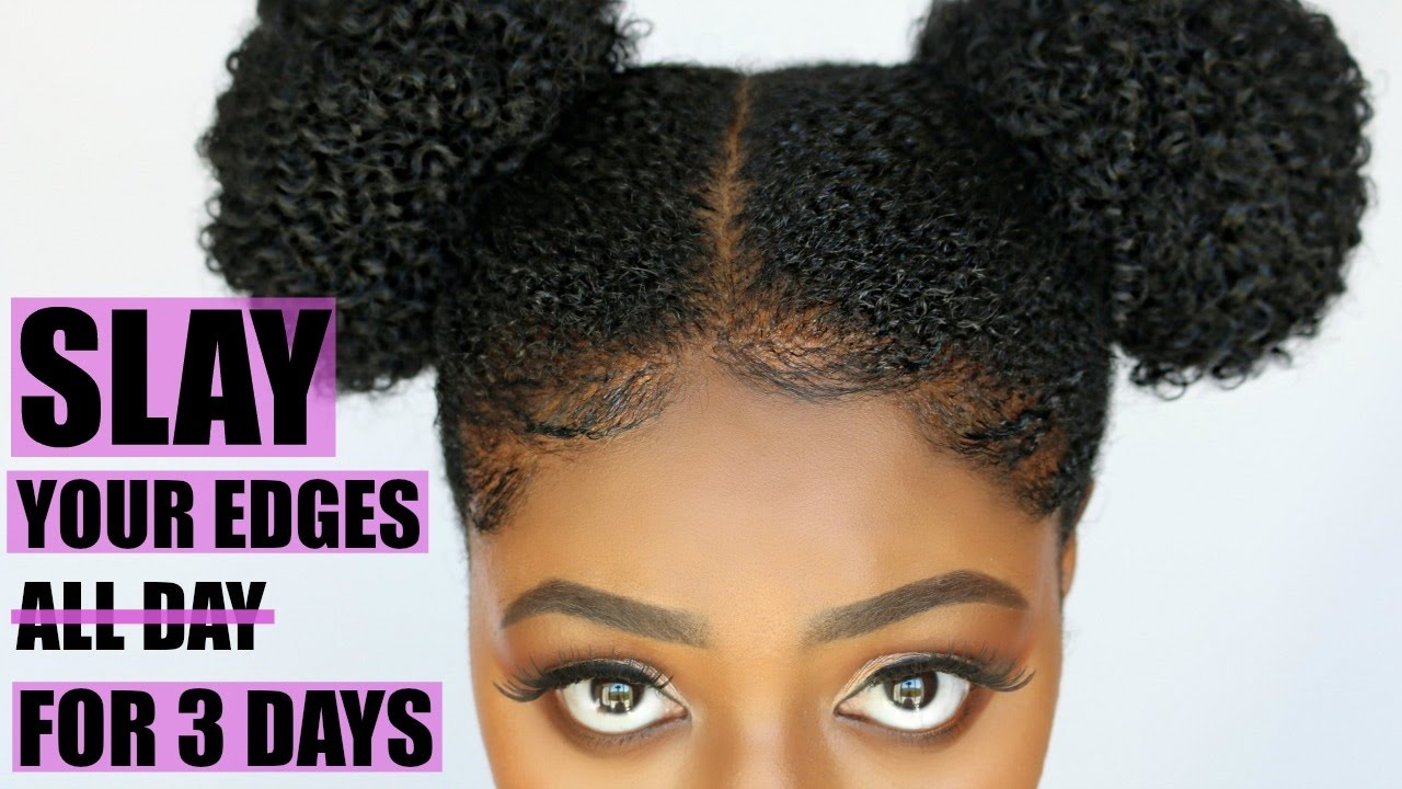 How To Slay Your Edges Secret Hair Gel For Coarse Natural Hair 4c