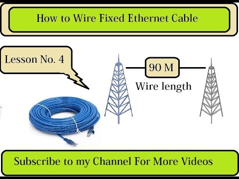 How to Wire Fixed Ethernet Cables / Waylink Network Internet