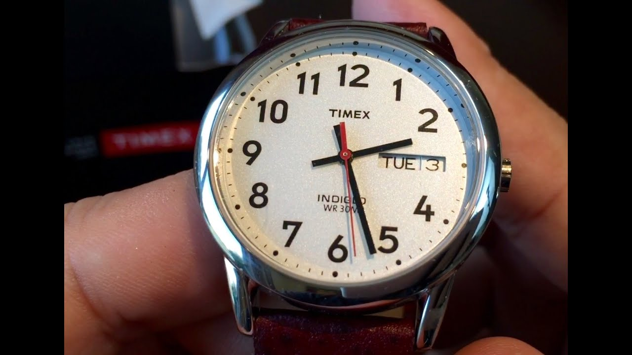 Timex Easy Reader Brown Leather Watch T20041 Youtube