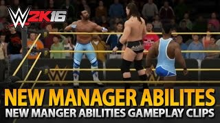 WWE 2K16: New Manager Abilities Gameplay