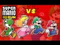 Super Mario Run: Mario vs Luigi vs Yoshi vs Peach