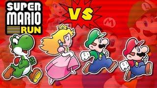 Repeat youtube video Super Mario Run: Mario vs Luigi vs Yoshi vs Peach