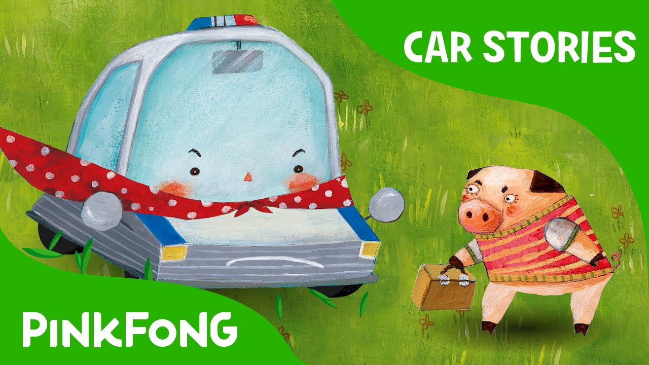 Super Popo To The Rescue Police Car Car Stories Pinkfong