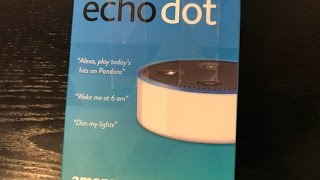 review unboxing setup amazon echo dot 2nd gen smart home a i white kitchen laundry room