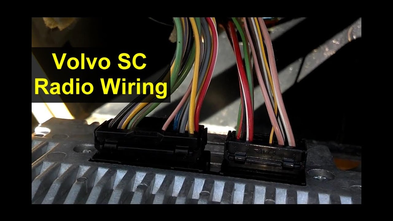 Volvo radio wiring harness connections  VOTD  YouTube