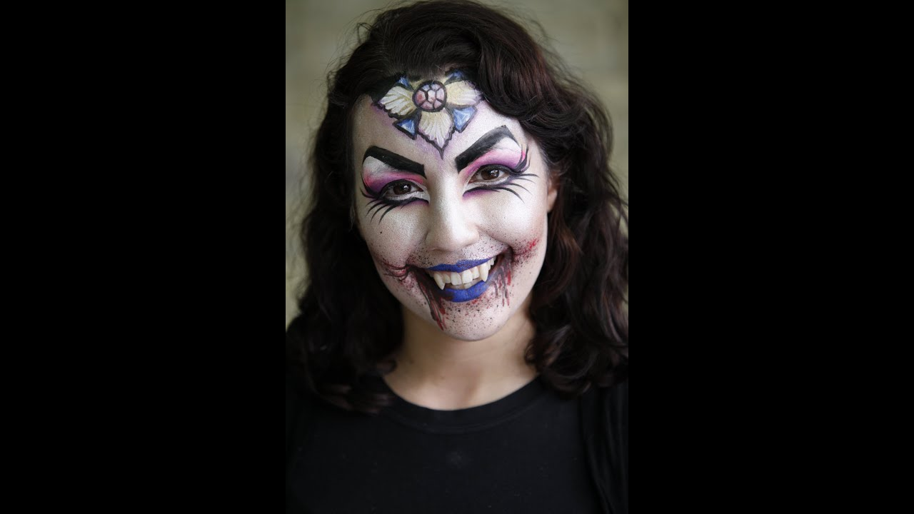 Girl vampire face paint ideas