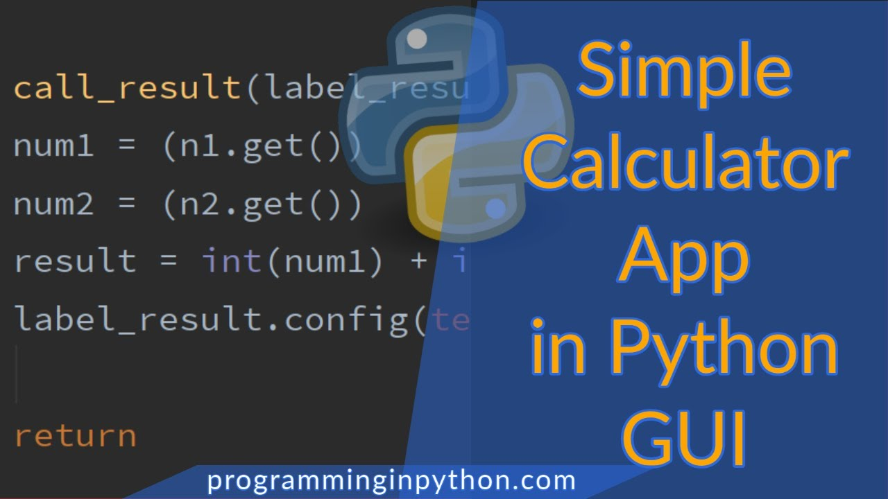 A simple python GUI calculator using TKInter - programminginpython