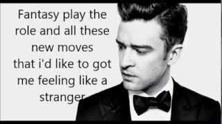 Justin Timberlake- Cabaret (Feat. Drake) Lyrics on screen