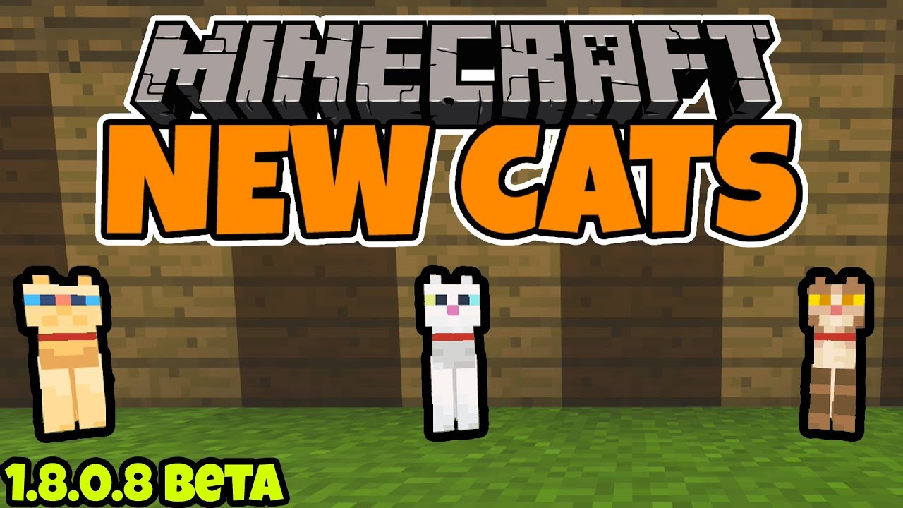 Minecraft 1 8 0 8 Beta - The NEW Cats & How to Tame Them!