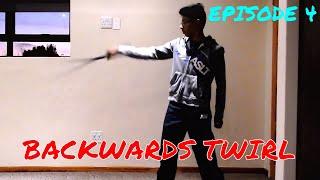 Cool Sword Trick Tutorials-Episode 4: Backwards Twirl