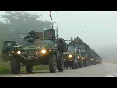 Französische Soldaten in Zentralafrikanischer Republik bejubelt