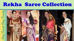 23497a7aaf8 Top 40 Actress(Bollywood) Rekha Style Kanjeevaram Sarees Collection