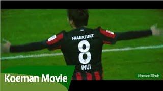 乾貴士 ボルシアMG戦 PA手前からのゴール / Takashi Inui Borussia MG Goal from the PA this side thumbnail
