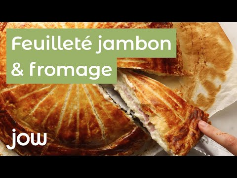 recette-du-feuilleté-jambon-&-fromage