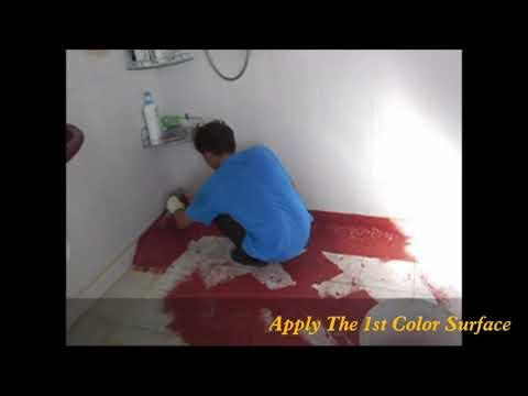 Installation method of epoxy flake coating