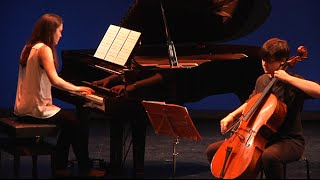 Nocturno para violoncello y piano  de Juan Antonio Simarro. Diego Jiménez e Isabel Sánchez