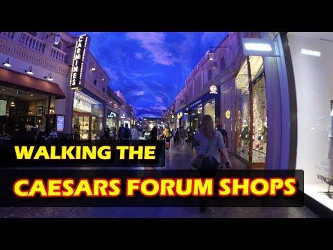 Walking through The Forum Shops at Caesars Palace Las Vegas in 4K HD - November 2017