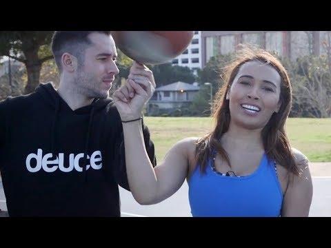 Basketball Trickster Jesse LeBeau Teaches Britt How to Hoop | Press Pass with Britt Johnson