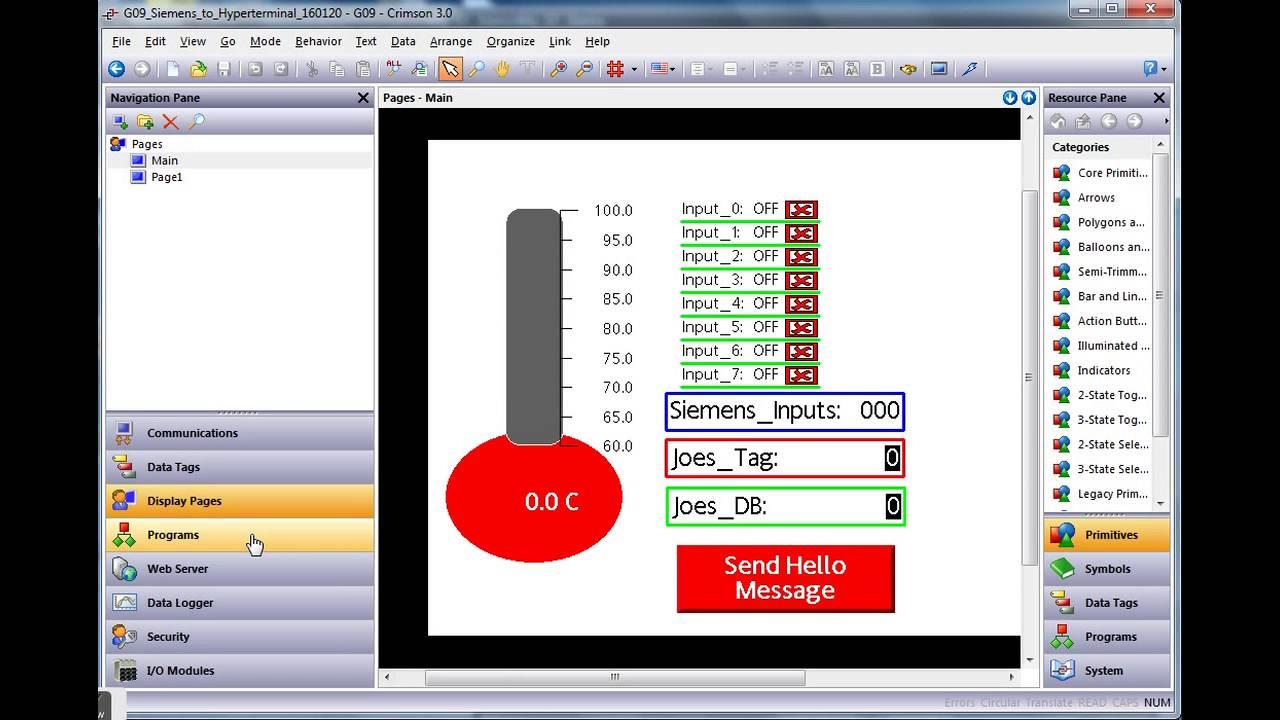 Siemens S7 to HMI to ASCII protocol