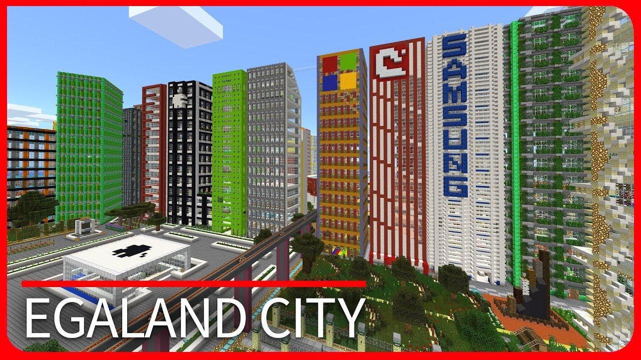 Minecraft PE Maps MODERN CITY MAP TOUR Egaland IOS Android - Maps fur minecraft pe ios