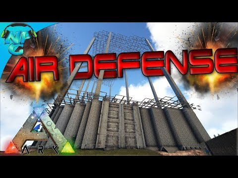 Building the ULTIMATE Air Raid Defense Structure! ARK: Survival Evolved Ragnarok PVP E18