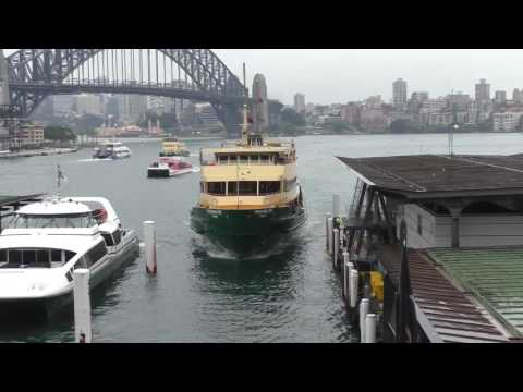 Sydney Ferries The Manly Ferry arriving at Circular Quay