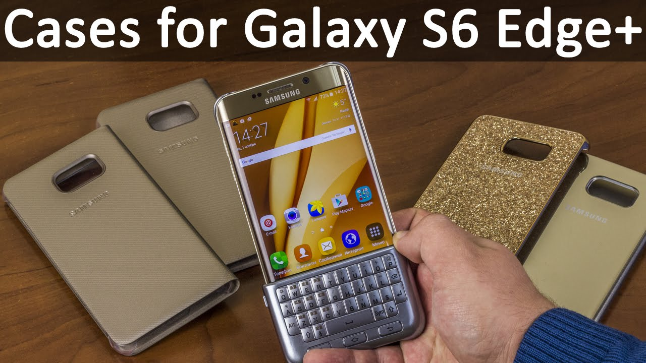Чехол-книжка Samsung Clear View Cover для Galaxy S6 edge Plus (EF .