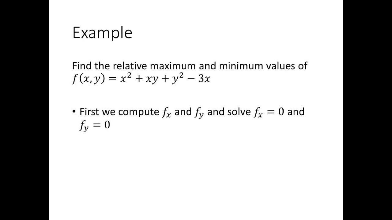 Calculus: Maximum-Minimum Problems With Two Variables