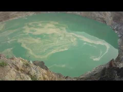 Mount Kelimutu and its colored lakes