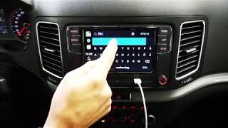 VW Sharan CarPlay & Android Auto - Waze navigator installation