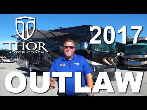 2017 Thor Outlaw Luxury Class A Toy Hauler Motorhome Tour