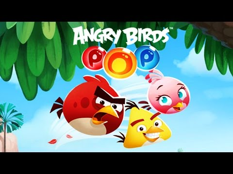 ANGRY BIRDS POP! ✔ BUBBLE SHOOTER | MATCH AND BURST BUBBLES | Games For Kids