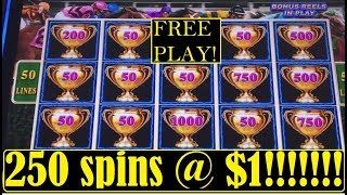 250 Spins On ⚡️⚡️LIGHTNING LINK!! HOW I CONVERT FREE PLAY INTO REAL MONEY!