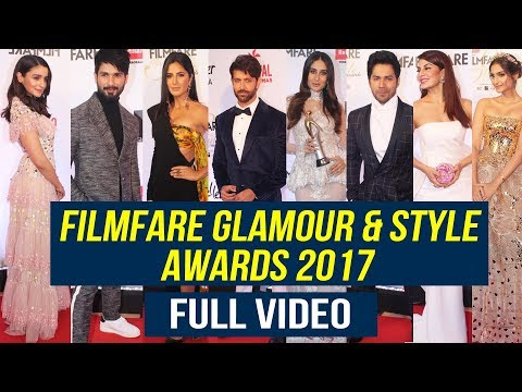 Filmfare Glamour and Style Awards 2017 Red Carpet FULL HD VIDEO | Katrina, Hrithik, Kareena, Varun
