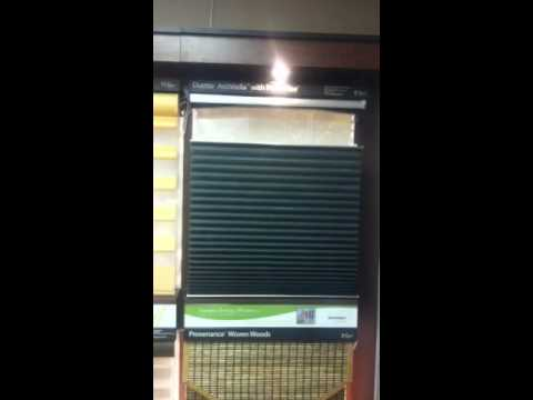 Motorized Honeycomb Shade W Top Down Bottom Up Youtube
