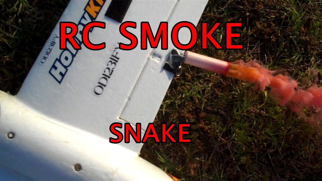 Rc Airplane Smoke Cartridge - YouTube