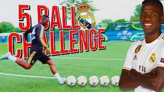 REAL MADRID FIVE BALL SHOOTING CHALLENGE! | Billy Wingrove & Jeremy Lynch