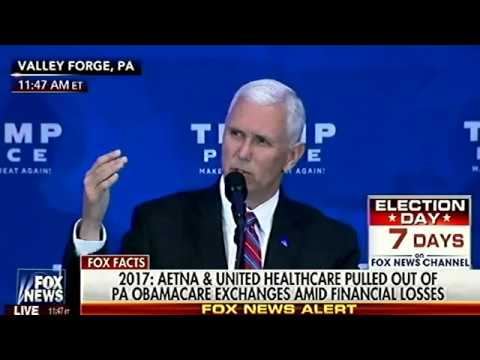 Mike Pence Explains Why ObamaCare/HillaryCare Must Go - Trump's Replacement Healthcare Plan
