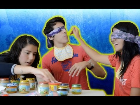 Reto de la comida de bebé sin mirar | Blind baby food challenge | Platica Polinesia Videos De Viajes