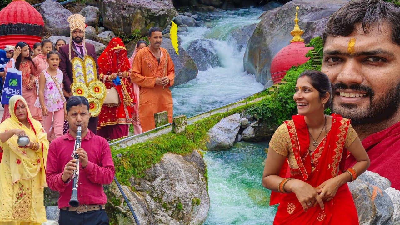 Hp-32 हिमाचल के गाँव में बारिश के मौसम में शादी और झरने 🚩 देवभूमि? Devbhoomi Himachal Khaniyara