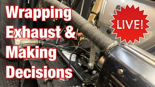 Wrap Motorcycle Exhaust on the Motorcycle Restoration LIVE Stream