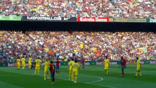 Barcelona vs villareal 08-09  camp nou fan