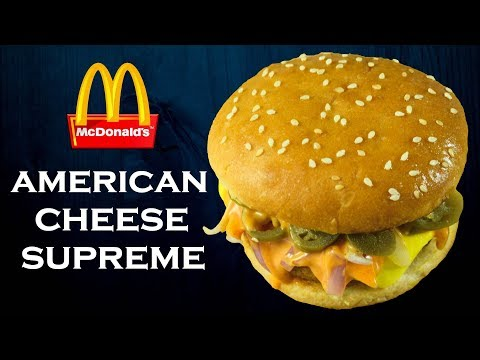 Make American Supreme Burger like McDonald's at home| McDonald's Habanero Sauce| Yummylicious