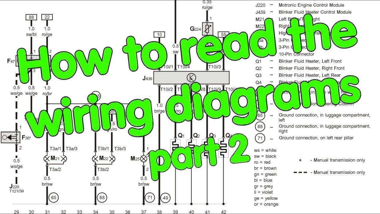 Reading Wire Diagrams Seat Ibiza Radio Wiring Diagram How To Read Part 2 Of Youtube Premium